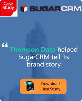 Thomson Data Helped SugarCRM tell its brand story