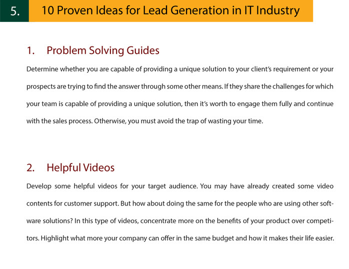 Lead Generation in IT Industry